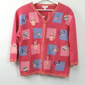Christopher & Banks ugly easter cardigan sweater